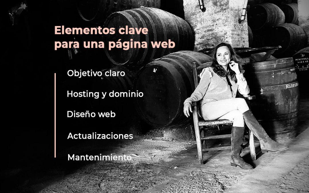 Elementos clave para una web